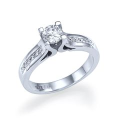 Show details for Jennifer - Channel Set Diamond Engagement Ring in 14k White Gold (.62 ct t.w) #wedding #engagement #relation #love #diamonds #rings #gifts #jewellery #beautiful #fashion