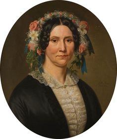 De vrouw - a woman, or a wife.    Portret van een vrouw - Basile de Loose.