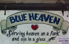 Serving heaven on a fork and sin in a glass;Blue Heaven in Key West, FL Florida Travel, Florida Keys, West Florida, Places To Eat, Great Places, Honduras, Key West Restaurants, Unique Restaurants, Key West Vacations