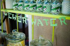 Teenage Mutant Ninja Turtle Party - Sewer Water