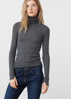 Stand-collar sweater | MANGO