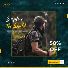 Traveling social media banner template P. Social Media Poster, Social Media Banner, Social Media Design, Banner Template, Marketing Digital, Social Media Marketing, Create A Business Logo, Organizar Instagram, Food Graphic Design