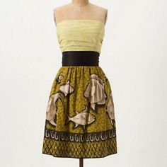 Anthropologie Dress With Fish Design