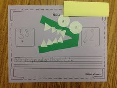 Greater Than & Less Than could not be more fun with this alligator activity. Here's a quick explanation and a freebie.