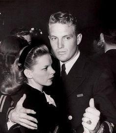 Judy Garland dancing with Robert Stack
