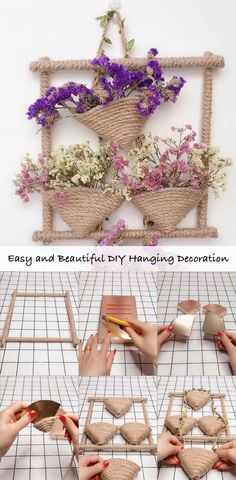 Want to make your room look standout and feel cozy? Only do paint is not enough, DIY hanging decoration by yourself not only transform your home on a budget, but also make your life much easier. DIY h Decoration Hall, Decoration Photo, Decoration Christmas, Decoration Bedroom, Decorations, Beautiful Decoration, Jute Crafts, Diy Home Crafts, Diy Crafts Videos