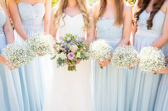 Baby Breath Bouquets Bridesmaids Gypsophila Pretty Fresh Summer Wedding http://www.charlotterazzellphotography.com/