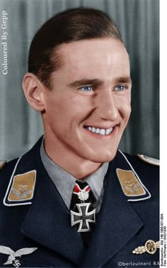 Newest one i coloured of ✠ Günther Rall he shot down a total of 275 enemy aircraft, including 3 on the Western Front to become the third highest scoring fighter pilot in history.