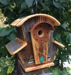 Hey, I found this really awesome Etsy listing at https://www.etsy.com/listing/251204353/unique-birdhouse-barnwood-villa-grande
