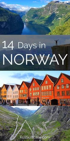 Planning a trip to Norway? This two week road trip itinerary brings you to the most beautiful fjords, charming towns, incredible landscapes and iconic hikes. #Norway #tripitinerary #roadtrip #itinerary #trip