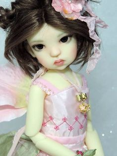 OOAK Custom Creme MeiMei MSD BJD by Kaye Wiggs...customized by Charlene Smith of Fireflies and Blossoms