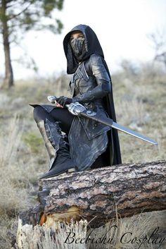 Nightingale Armor Cosplay (Skyrim) By Beebichu On Etbgerfp Warrior Girl, Fantasy Warrior, Warrior Princess, Fantasy Art, Warrior Women, Larp, Character Inspiration, Character Design, Mode Steampunk