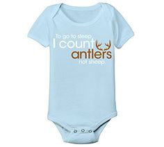 I Count Antlers Not Sheep Deer Hunting Hunt Funny Humor Infant Baby Bodysuit. Machine Washable. Preshrunk to minimize shrinkage. 3 snap closure. Solid colors and prints are 100% cotton. Athletic heather is 90% cotton / 10% polyester.