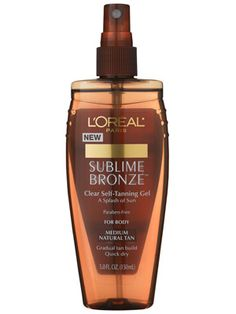 Sublime Bronze Clear self-tanning Gel. I must admit.this a fantastic self tanner. It says Gradual tan but within a few hours the color was deep.by the next day I was bronzed and very impressed. My fave self tanner, I use it all the time Beauty Nails, Hair Beauty, Gradual Tan, Tanning Tips, Beauty Secrets, Beauty Ideas, Beauty Products, L'oréal Paris, Beauty Make Up