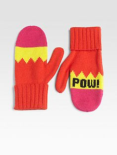 Kate Spade New York Big Apple Pow Pow Mittens    For my friends. These cute Kate Spade gloves are perfect for many of my friends, as we're comic book fans, video game fans, or both! The bright colors and POW design look just like a comic, while the font resembles retro video games. Perfect!