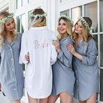 You are in the right place about Bridesmaid Outfit hijab Here we offer you the most beautiful pictures about the Bridesmaid Outfit purple you are looking for. When you examine the part of the picture Bridesmaid Pyjamas, Bridesmaid Shirts, Bridesmaid Outfit, Bridal Party Getting Ready, Party Set, Casual Outfits, Fashion Outfits, Pajama Party, Sleep Shirt