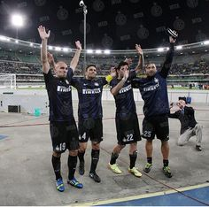 Inter Milan say goodbye to 4 greats. Cambiasso, Milito, Samuel and Legendary captain Zanetti.