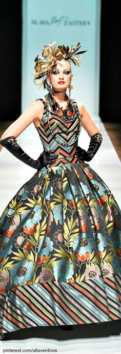 Color fashion Glam                                         Russian designer Slava Zaitsev
