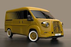 Notice to all lovers of the classic Citroen Type H: only 70 kits will be built to honor the classic van's anniversary. Citroen Van, Citroen Type H, Engine Working, Automobile, Old Vintage Cars, Panel Truck, Car Mods, Unique Cars, Volkswagen