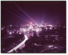 Night view of the Canadian National   Exhibition                       (CNE), Toronto, 1953