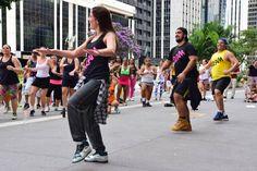 Master Class Junina de zumba na Avenida Paulista