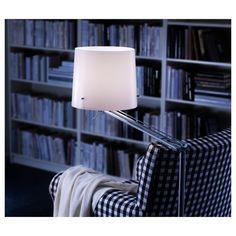 Floor/reading lamp SAMTID nickel plated white - All For Decoration Ikea, Polypropylene Plastic, Wood Lamps, Led Lampe, Diffused Light, Floor Lamp, Diffuser, Light Bulb, Plating