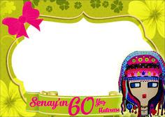 60 birthday frame