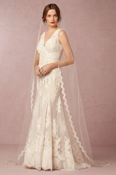BHLDN Scalloped Cathedral Veil in  Bride Veils & Headpieces at BHLDN