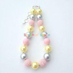 Girl Chunky Bead Necklace-Bubblegum Necklace-Chunky Necklace-Girls Necklace-Chunky Bead Necklace-Baby Necklace-Girl Chunky Necklace-Necklace by SplashofSoiree on Etsy https://www.etsy.com/listing/189613707/girl-chunky-bead-necklace-bubblegum