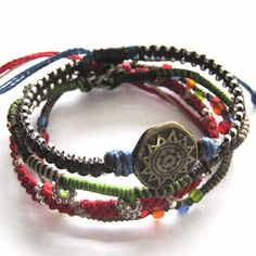 The Story of the Earth 4-strand Bracelet - Multi-Colored $16.00 Fair Trade, Made in Guatemala. #FairTradeBracelet #FairTradeJewelry #Wakami #Guatemala