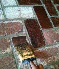 Before & After: Using Concrete Stain to Makeover Brick — Ask Anna Moselley | Apartment Therapy