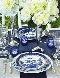 Adore Blue And White Table Setting