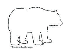 black bear pattern use the printable outline for crafts creating