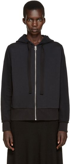MM6 Maison Margiela - Black Inside-Out Hoodie