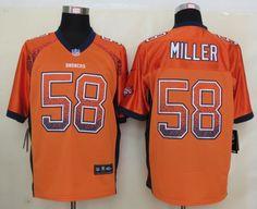 Men's NFL Denver Broncos #58 Miller Drift Fashion Orange