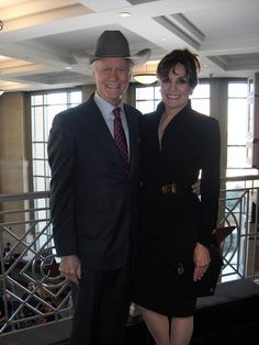 """Embedded image permalink Larry Hagman & Linda Grey: (now) Actor & Actress from hit show """"Dallas"""""""