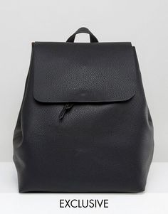 #ASOS - #Street Level Street Level Minimal Backpack - Black - AdoreWe.com