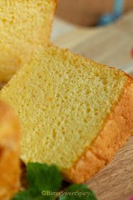I made this Orange Chiffon Cake two weeks ago. I decided to bake it after I saw Sonia posted hers. Sonia's chiffon cake looks so beautiful. Asian Desserts, Desserts To Make, Delicious Desserts, Bolo Chiffon, Orange Chiffon Cake, Orange Sponge Cake, Cotton Cheesecake, Sponge Cake Recipes, Cake Photography