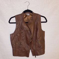 BCBGeneration Cognac Vest A great pair with any outfit! Worn once. Purchased at BCBGeneration. BCBGeneration Jackets & Coats Vests