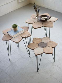 Kalalou Set Of 3 Flower Side Tables With Wooden Tops Ikea Furniture, Metal Furniture, Furniture Design, Furniture Outlet, Furniture Movers, Discount Furniture, Chair Design, Office Furniture, Painted Furniture