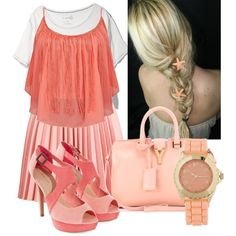 Peach outfit