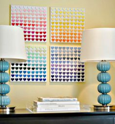 Paint Chip Heart Art: What's the easiest way to get all the colors you need for a beautiful ombre piece? Start with paint chips, of course!