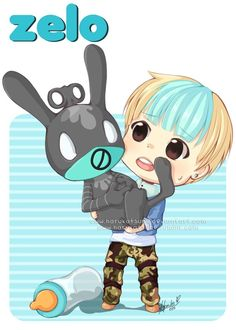 Aww so cutie baby zelo and his matoki <3