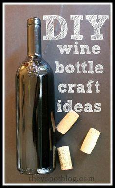 DIY wine bottle crafts ideas. #WineNightCrafts #Wine http://www.brioitalian.com/bar_brioso.html?view=full