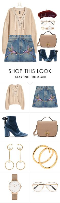 """""""Walking near the Seine"""" by xoxomuty on Polyvore featuring H&M, Gucci, self-portrait, Mulberry, Chloé, Luis Morais, Daniel Wellington, ootd, parisian and polyvoreOOTD"""