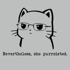 Nevertheless, She Purrsisted. t-shirt TeeTurtle
