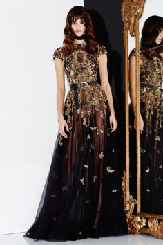 A little less sheer in the skirt... but MAN, that embroidery! Zuhair Murad Fall…