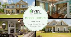 Model Homes Open today!  #iveyhomes #modelhome #newhome #exterior #dining #familyroom #design Ivey Homes is a local Augusta GA home builder. Homes from the Low $100's to custom.