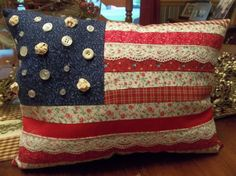 American Flag Pillow by TheCountryChipmunk on Etsy