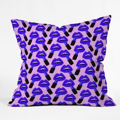 Bouffants and Broken Hearts Never Enough Lipstick Throw Pillow | DENY Designs Home Accessories